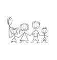Cartoon comic family vector | Price: 1 Credit (USD $1)