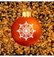 Christmas GlassRed Ball vector image vector image