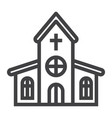 church line icon easter and holiday vector image vector image