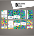 collection of cards with triangle pattern vector image