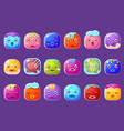 colorful buttons emoticons sett with with frozen vector image vector image
