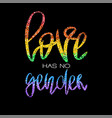 conceptual poster with rainbow lettering vector image vector image