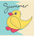cute with duck vector image vector image