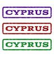 cyprus watermark stamp vector image vector image