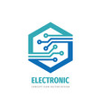 data digital electronic technology - logo vector image vector image