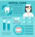 dental care infographic set vector image