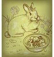 Easter Bunny Sketch vector image vector image