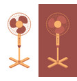 electric fan isolated on background household vector image