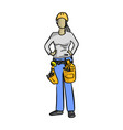 female mechanic or plumber handyman vector image