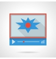 Flash video flat color design icon vector image vector image