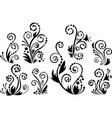 Floral flourishes vector image vector image