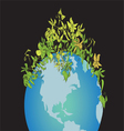 Globe and Plant vector image