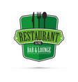 green restaurant design vector image vector image