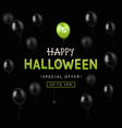 halloween sale design banner vector image