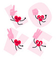 heart character with foam hand prop vector image vector image