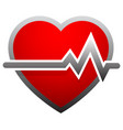 heart with heartbeat heart rate ecg ekg vector image vector image