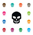 isolated cranium icon skull element can be vector image