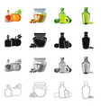 isolated object of healthy and vegetable logo vector image