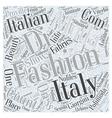 italian fashion design school Word Cloud Concept vector image vector image