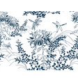 japanese chinese design sketch ink paint style vector image vector image