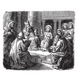 jesus teaching at the temple at twelve years old vector image vector image