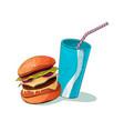 junk food icon colorful food vector image vector image