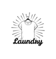 laundry and dry cleaning logo emblem and design vector image vector image