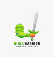logo ninja warrior gradient colorful style vector image