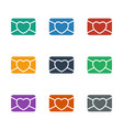 love letter icon white background vector image vector image