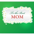 mothers day background with daisies vector image vector image