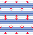 nautical seamless pattern with anchors vector image vector image