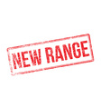 New range red rubber stamp on white vector image vector image