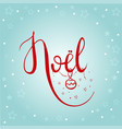 noel lettering card vector image vector image