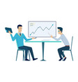 office meeting teamwork at workplace business vector image vector image