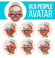 old woman avatar set black afro american vector image vector image