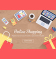 online shopping concept vector image