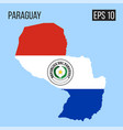 paraguay map border with flag eps10 vector image
