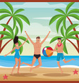 people and summer vector image vector image