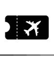 plane ticket icon design vector image