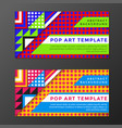 pop art banners templates vector image vector image