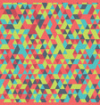 retro colorful geometric triangle seamless vector image vector image