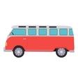 Retro Travel Red Van