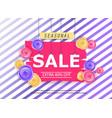 seasonal sale banner with flowers vector image