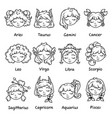 set of horoscope signs as women vector image vector image