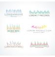 Set of music wave logo elements vector image vector image