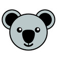simple cartoon of a cute koala vector image vector image