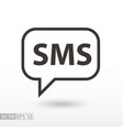 sms flat icon sign sms message vector image
