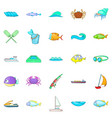 sopping icons set cartoon style vector image vector image