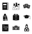 standing icons set simple style vector image vector image