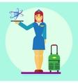 Stewardess icon flat vector image